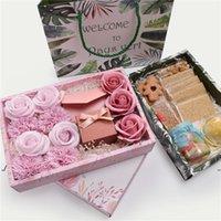 Nova caixa de presente de papel doce cookies bolo caixa com saco casamento favorece saco de presente decoração do partido ewf7665