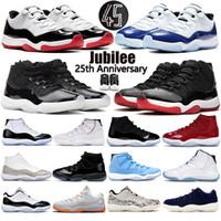 11 11s scarpe da basket Giubileo 25 ° anniversario Concord Bred Jam Cap E Abito leggenda Legenda Donne da corsa Sneakers Uomo Scarpe da ginnastica