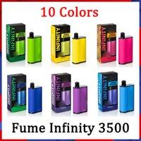 Gummi-Infinity-Einweg-E-Zigaretten 1500mAh-Batteriekapazität 12ml mit 3500 Puffs extra Ultra Vape-Stift Vorgefüllte hochwertige Dämpfe vs Bang XXL Duo