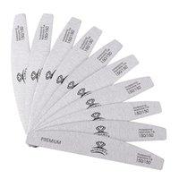 10pcs Zebra ongles Nail Fichiers Double côte à laver 150/150 Fichiers tamponnaires à ongles à ongles Demi-lune Papier de sable à ongles Dossier