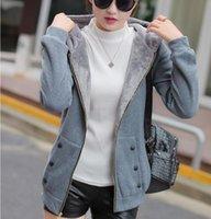 Women's Jackets Casaco feminino com capuz, jaqueta feminina casual plus size veludo espessante zper 9Z7X