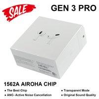 에어 포드 프로 Gen 3 AP3 이어폰 Airoha 1562A 칩 원래 상자 ANC 액티브 소음 제거 투명 모드 무선 충전 TWS 블루투스 이어 버드