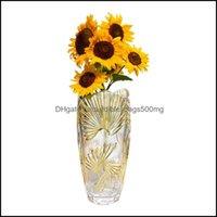 Vases Décor Home & Gardenvases Luxury Creative Glass Vase Modern Flower Minimalist Decor Dried Flowers High Plant Holder Ornaments Vaas Pot