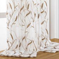 DZQ bestickter Tüll Vorhang für Wohnzimmer Sheer Vorhang für Schlafzimmer Küche Fensterbehandlung Home Decoration Decorat Blind
