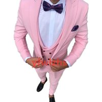 Customize tuxedo One Button Handsome Peak Lapel Groom Tuxedos Men Suits Wedding Prom Dinner Man Blazer(Jacket+Pants+Tie+Vest) W964