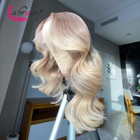 Lace Wigs HD Transparent Ombre 613 Blonde Frontal Human Hair Grey Colored Body Wave Remy Wig Pre Plucked Bleached Knots 13x6x1