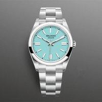 탑 망 시계 자동 권선 기계 운동 41mm 아이스 블루 빛나는 7 색 패션 비즈니스 시계 몽트르 드 럭셔리 남자 선물