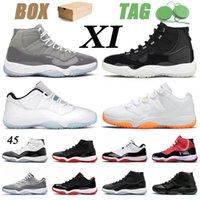 2020 avec la boîte stock x nike air retro jordan 11 high jordans low jumpman 11s chaussures de basket-ball d'origine des femmes des hommes 11s Concord haut bas élevé sport rétro