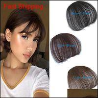 100% real clipe de cabelo humano em bangs clip na bangs extensão mão amarrada cabelo qylbuc bdénet