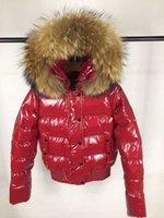 Nuovo Top Fashion Womens Fur Nylon Down Piumino Designer Lady Warm Hooded Snap Button Chiusura con zip Outwear Donne Parka Winter Coat