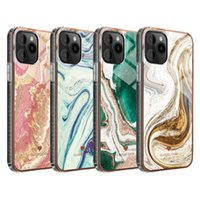 Luxury Marble Cell Phone Cases Protective Acrylic Back TPU Glitter Case Cover for iPhone 13 12 Pro Max Mini 11 X XS XR 7 8 Plus