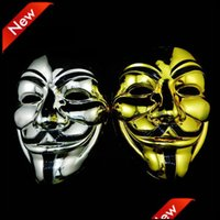 Festive Supplies Home & Gardengold Sier V Masquerade Masks For Vendetta Anonymous Valentine Ball Decoration Fl Face Halloween Scary Party Ma