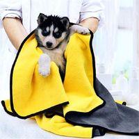 Toallas absorbentes de aseo para perros para perros Gatos de moda Toalla de baño Nano Fibra Secado rápido Coche Paño de limpieza Suministros para mascotas
