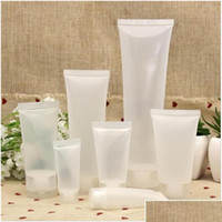 15ml 20ml 30ml 50ml 100ml frasco geado reutilizável plástico vazio cosmético tubos macios recipiente parafuso tampão loção jllwww insyard