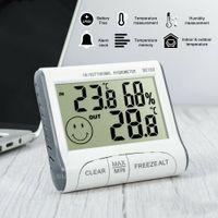 2021 Novo Mini Digital LCD Medidor de Umidade Interior Interior Higrômetro Ao Ar Livre Termômetro Temperatura de Alarme de Temperatura Termômetros