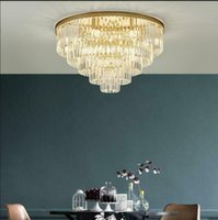 Ceiling Lights Modern Flush Mount Led Crystal Chandelier Lighting Fixtures With Remote Control For Office Home Decoration