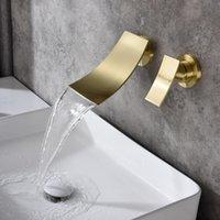 Wall Mount Widespread Bathroom Sink Faucet