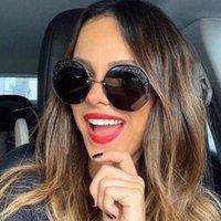 Sunglasses Unisexe célébrités de luxe Femmes Femmes Italie Marque Designer surdimensionné Lunettes de soleil pour femmes Trend Sunglass UV400