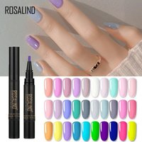 Nail Gel ROSALIND Polish Pen Hybrid Varnish Semi Permanent Nails Art Soak Off Base Coat Primer Set Lacquer UV LED Lamp