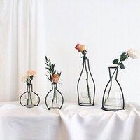 Металлический стенд хрустальный цветок ваза завод держатель железа подставка держатель свадебный стол вечеринка декор без стеклянной чашки