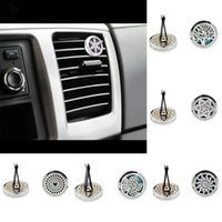 Car Perfume Clip Home Essential Oil Diffuser For Car Locket Clip 30mm Stainless Steel Car Air Freshener Conditioning Vent Clip WX9-296