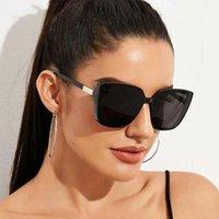 2021 جديد إمرأة مستطيل عدسة أسود نظارات حماية خمر نظارات نظارات أزياء الفتيات