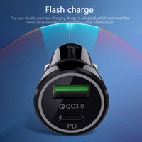 Fast Car Charger Quick Charge QC3.0 QC PD Type C 20W Adapter For iPhone 11 12 13Xiaomi huawei Samsung Phone