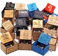 Creative Classic Deserve Music Box Все виды рисунков Ингравированные Рука встряхивание Мотивированные Гарри Потса Украшения Музыка Box Поддержка