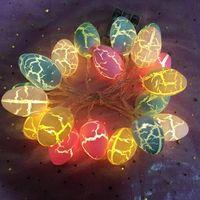 Ovo da páscoa ilumina a bateria operada de 10 ft 20 LEDs Forma de ovo da Páscoa LED Luzes de Luzes Fadas Decoração de luzes para a festa do tema da Páscoa da Páscoa