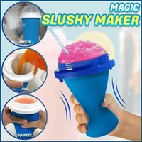 Quick-frozen Smoothies Newly Durable Slushy Ice Cream Maker Squeeze Slush Quick Cooling Cup Milkshake Bottle Smoothie Cup H0902