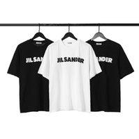 Jackacket di lusso JIL SANDER UOMO DONNE DONNA TEE Lettera stampata Top T-shirt Oversized Vintage Maniche corte Estate Street Poloshirts HFYMTX640
