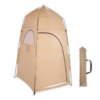 Barracas e abrigos ao ar livre Portable Privacidade Chuveiro Barraca de banho Changing Sala de montagem Abrigo Acampamento Beach Função UV Molho