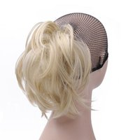 Synthetic Wigs Girl's Claw Pony Tail Hair Women Blonde Ponytail Hairpiece High Temperature Fiber 14Inch Long Horse