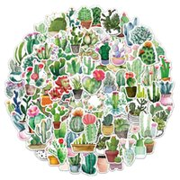 100pcs lot cactus Car Stickers mixed Cartoon For Laptop Bicycle refrigerator Phone Luggage waterproof Decal water bottle Sticker