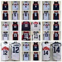 Mens Basketball 2012 Team USA Jersey Kevin 5 Durant Lebron 6 James 12 Harden Russell 7 Westbrook Chris 13 Paul Deron 8 Williams Anthony 23 Davis