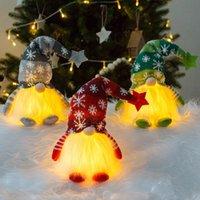 Weihnachtsspielzeug Ornamente Gnome Lichter Schwedisch Santa Tomte Nordic Weihnachten Dekoration Plüsch Puppe Kinder Geschenke Fachlose Rudolph DHL