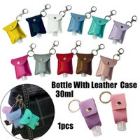 Storage Bags Keychain Hand Sanitizer Holder Travel Bottle Refillable Containers 30ml Flip Cap Reusable Bottles With Carrier Bag
