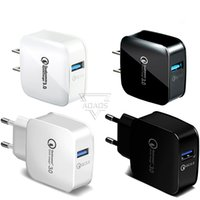 QC 3.0 US EU Adaptive Fast Charging Home Travel Wall Charger Plug Cable USB CableS For Samsung Galaxy