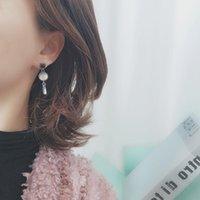 Stud Blue Crystal Retro Earrings Baroque Pearl Tassels European And American Fashion Ladies Charm Jewelry