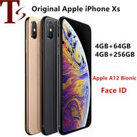 refurbished Unlocked Original iPhone XS Cell Phones 5.8inch Face id 4+64 256GB Smartphones 7+12MP 1SIM Card Mobile Phones