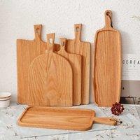 Fyrkantig kök levererar hem trä skärbräda tårta sushi bröd frukt biff bricka bekvämt och praktiskt