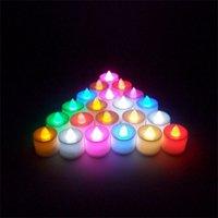 LED Kerze Teelicht Flammenlose Kerze Tee Licht Bunte Batterie Betrieb Lampe Geburtstag Hochzeit Party Weihnachten Dekoration Licht 239 S2