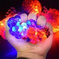 10 ml Malla de bola de estrés LED que brillan intensamente un juguete de uva Alivio de la ansiedad Bola de estrés Fidget Juguete Niños Regalo Novedad Estrés Alivio Niños Juguete X0707