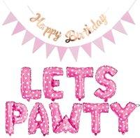 Mascota perro gato cumpleaños globo globo gatos globos feliz-cumpleaños banner sombrero cumpleaños conjunto decoraciones para la fiesta HWA7941