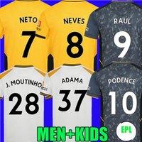 21 22 Kurtlar Futbol Formaları Üçüncü Aït Nouri Semedo Raul Neto Neves 2021 2022 Boly J.Otmo Podience Faio Silva Futbol Saiss Gömlek J. Moutinho Adama Erkekler Kitleri Üniforma Tops