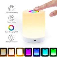 Rechargeable Smart LED Touch Control Night Light Induction Dimmer Lampe de chevet intelligente Dimmable RVB Couleur Changement de couleur avec crochet en stock