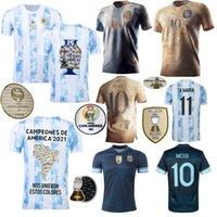 2021 아르헨티나 축구 유니폼 마라 도나 요소 메시 개념 Kun Agüero 디 Maria Lo Celso Martinez Correa 독립 200 년 홈 멀리 축구 셔츠