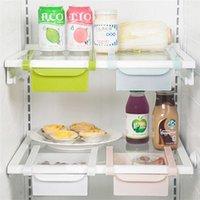 Garrafas de armazenamento frascos de poupança de espaço caixa organizador de kitchenizer geladeira slide sob gaveta de prateleira 2x