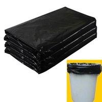 (A181-08K) 100x Müllbeutel Black Müllsack für Abfall Mülleimer Flache Mund Plastiktüten