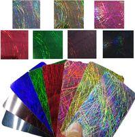 "25cmx50cm / 9.8 ""x19.7""홀로그램 무지개 빛깔의 크롬 열전달 비닐 새의 둥지 철 - 온 프레스 섬유 티셔츠 크리케이트 필름 DIY DFF2658"
